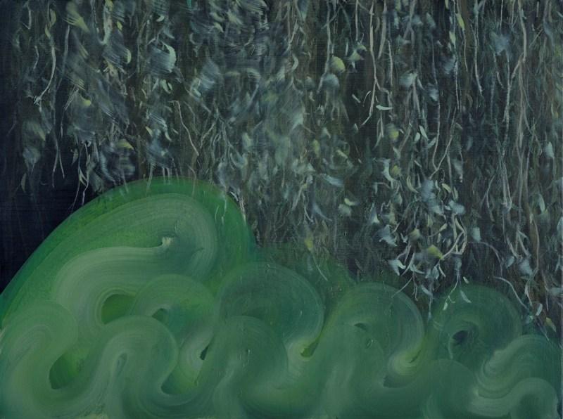 Graze. Oil on canvas. 45 x 60cm. Amanda Ansell