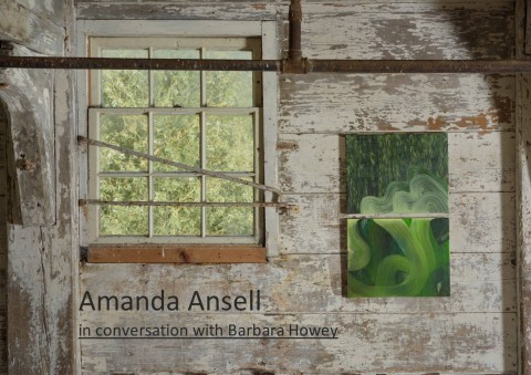 Amanda Ansell in conversation with Barbara Howey.