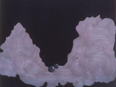 Small Adventures 4. Oil on canvas. 47 x 47cm. Amanda Ansell