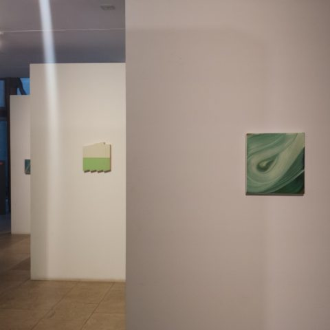 34 Painters exhibition, installation. Amanda Ansell painting, Same Patch.